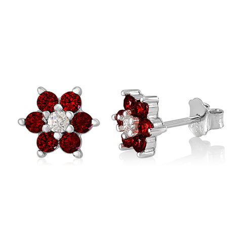 Girls Silver July Birthstone Earring Italy B078RB8Y65 UJEP 5103 SRH JL