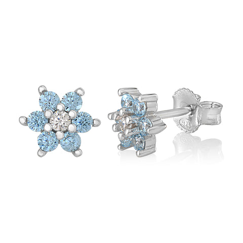 Kids Silver March Birthstone Earring Italy B078RBCSJB UJEP 5103 SRH MR