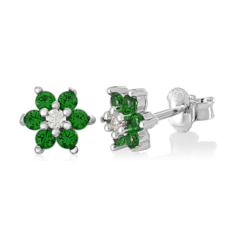 Girls Silver May Birthstone Earring Italy B078RBDF9J UJEP 5103 SRH MY