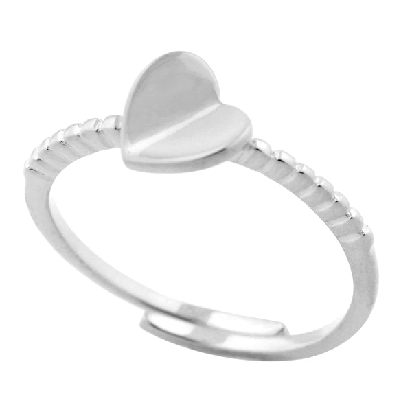 Silver Heart Ring Sterling Silver Heart Ring Adjustable