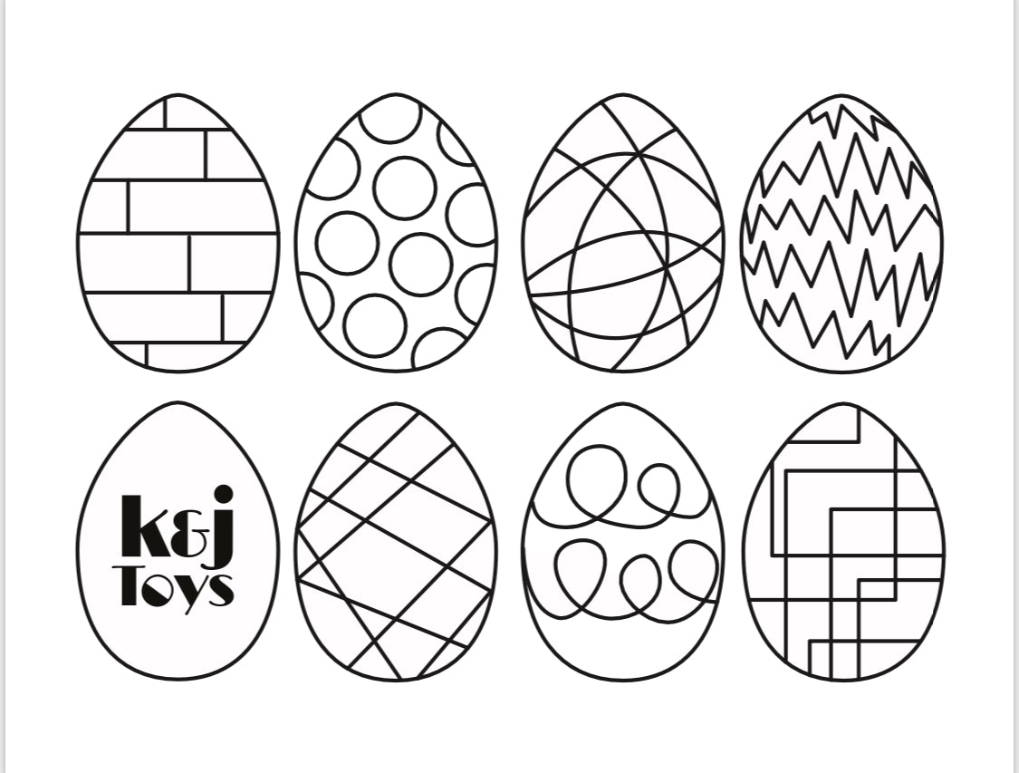Easter Coloring Sheet - Kindness and Joy Toys