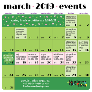 March Calendar and Spring Break Events