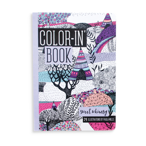 Travel Size Color-In- Book: Sweet Whimsy