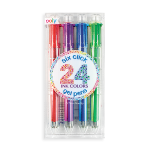 6 Click Gel Pens-Set of 4