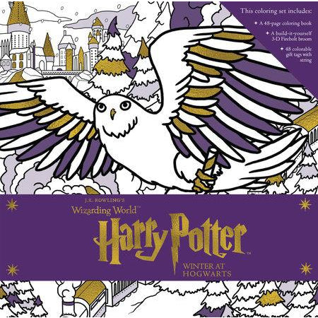 Wizarding World Harry Potter Winter at Hogwarts Magical Coloring Set