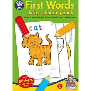 Sticker Coloring Book