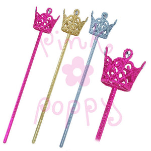 Glitter Crown Wands