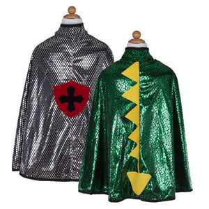 Dragon Knight Reversible Cape (sz 5/6)