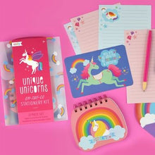 Load image into Gallery viewer, Unique Unicorns Stationery Set