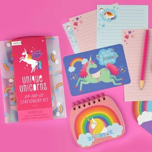 Unique Unicorns Stationery Set