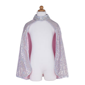 Silver Sequin Reversible Cape