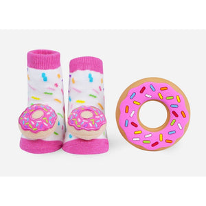 Donut Rattle Socks+Teether Gift Set