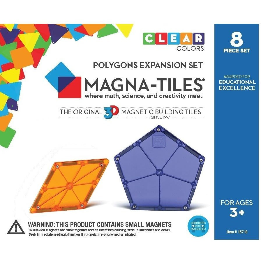 Magna-Tiles Polygons 8 Piece Expansion Pack