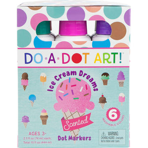 Ice Cream Dreams 6 Pack Scented Dot Markers