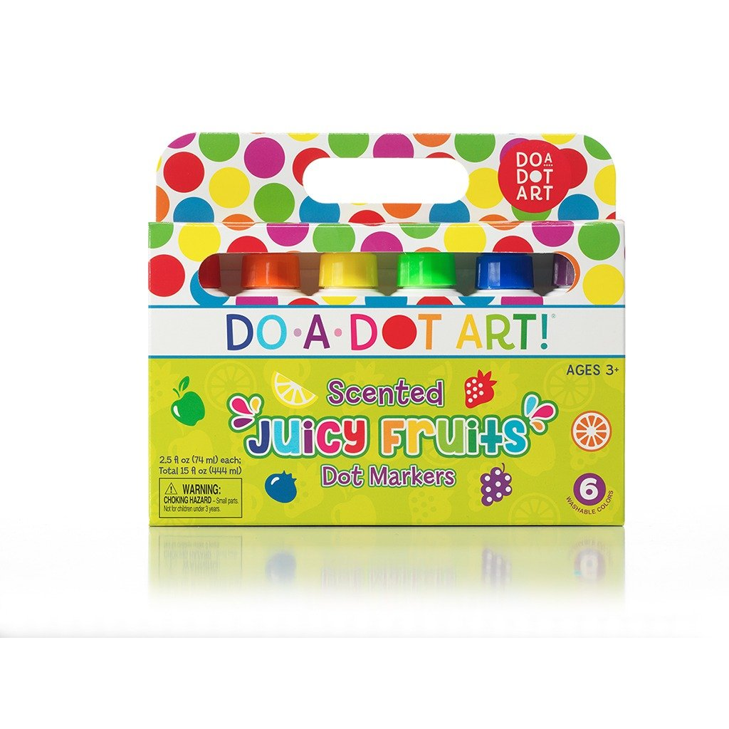 Juicy Fruits 6 Pack Scented Dot Markers