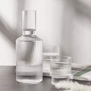 Stackable Ripple Glass Set-4