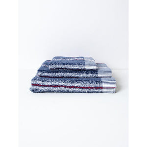 Navy 40 Stripe Towel