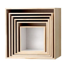 White/Natural Display Boxes Set 6