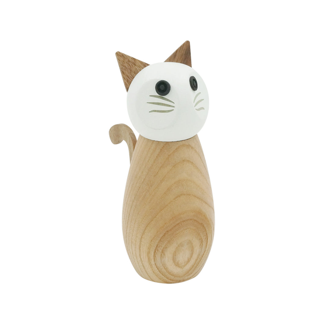 Cat Wooden Pepper & Salt Mill