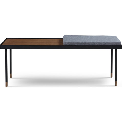 Obisbo Oak/Black Bench