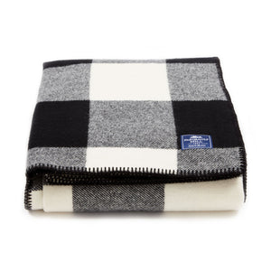 Oversized Buffalo Check Wool Throw