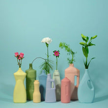 Ribbed Bottle Vase