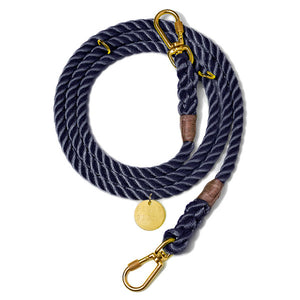 Med Adjustable Leash Navy