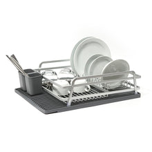 Aluminum Dish Rack with Silicone Self-Draining Mat