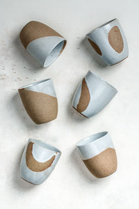 Dipped White Tea cups Set of 6