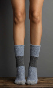 Terry Color Block Socks