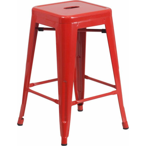 Backless Metal Counter Height Stool