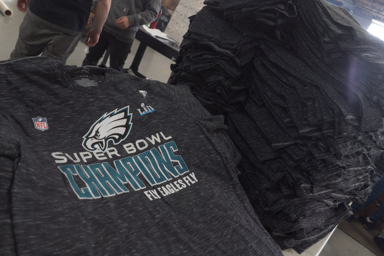 Philadelphia Eagles Superbowl Championship merchandise!