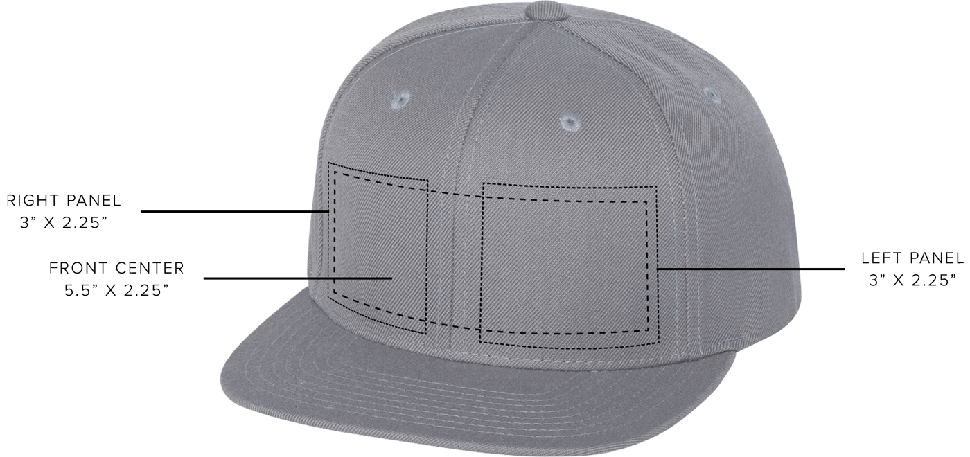 custom hat embroidery location, front