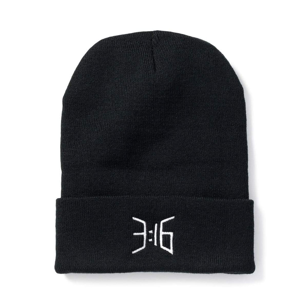3:16 Collection Accessories - Hats - Beanies 3:16 Beanie, Black