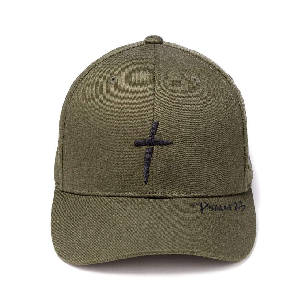 Psalm 23 - Premium Baseball Cap - Army Green