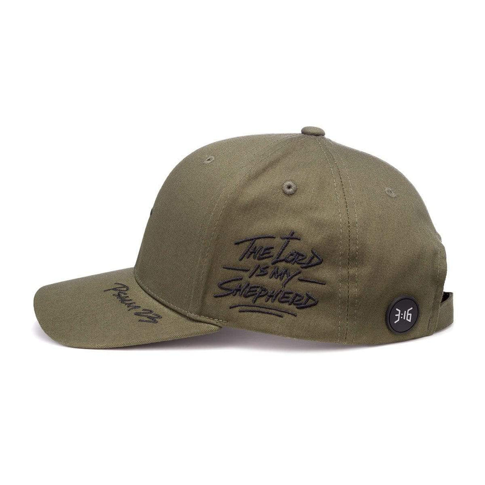 3:16 Collection Accessories - Hats - Dad Caps Default Psalm 23 Dad Cap - Army Green