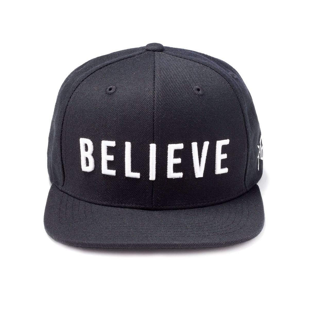 Believe Snapback Hat - Black