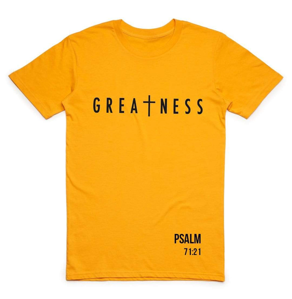 3:16 Collection Apparel Greatness T-Shirt (Gold)