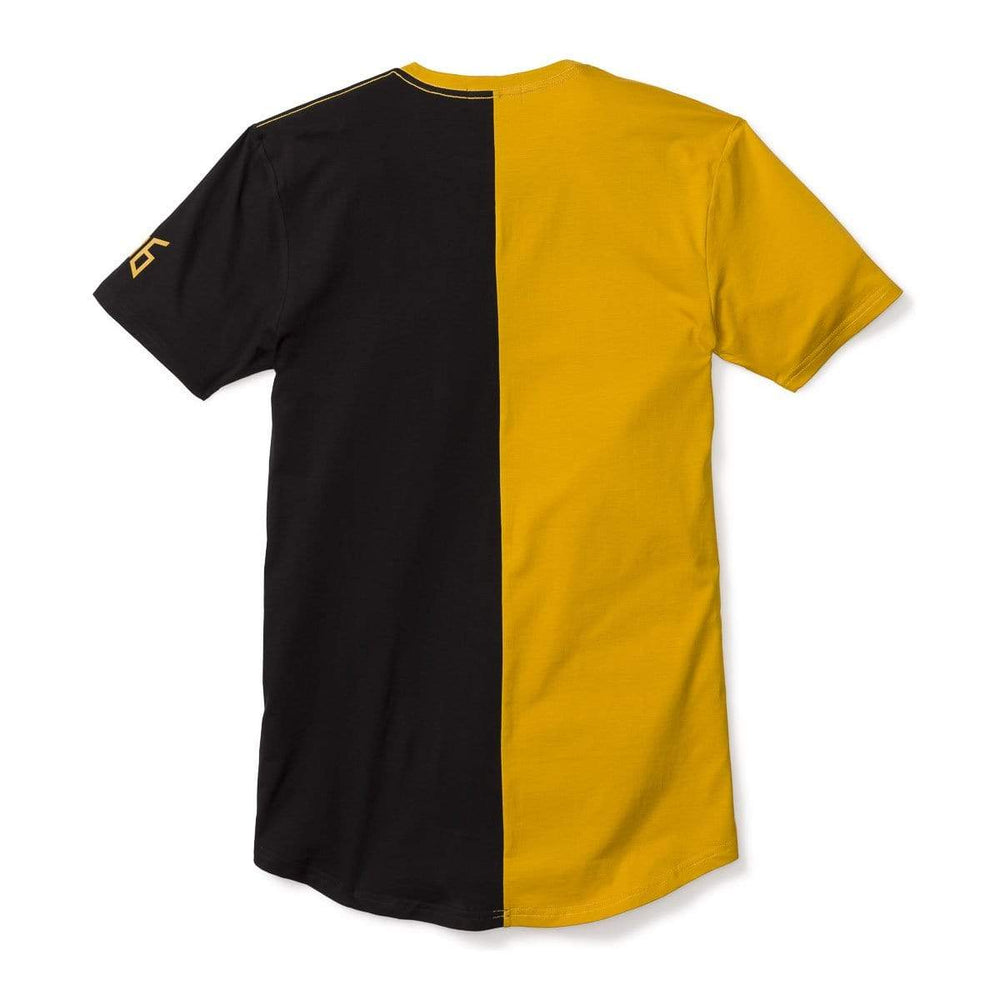 3:16 Collection Apparel Salvation Vertical Block Swoop Tee - Black and Gold