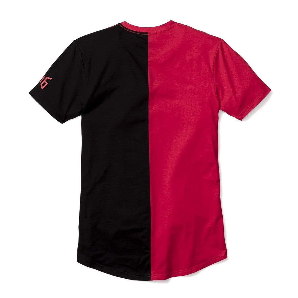 3:16 Collection Apparel Salvation Vertical Block Swoop Tee - Black and Red