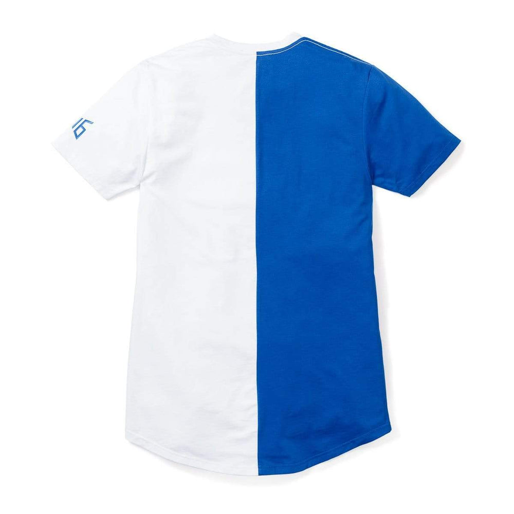 3:16 Collection Apparel Salvation Vertical Block Swoop Tee - Royal and White