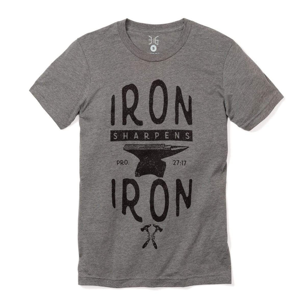 3:16 Collection Apparel Small / Deep Heather Iron Sharpens Iron CVC T-Shirt