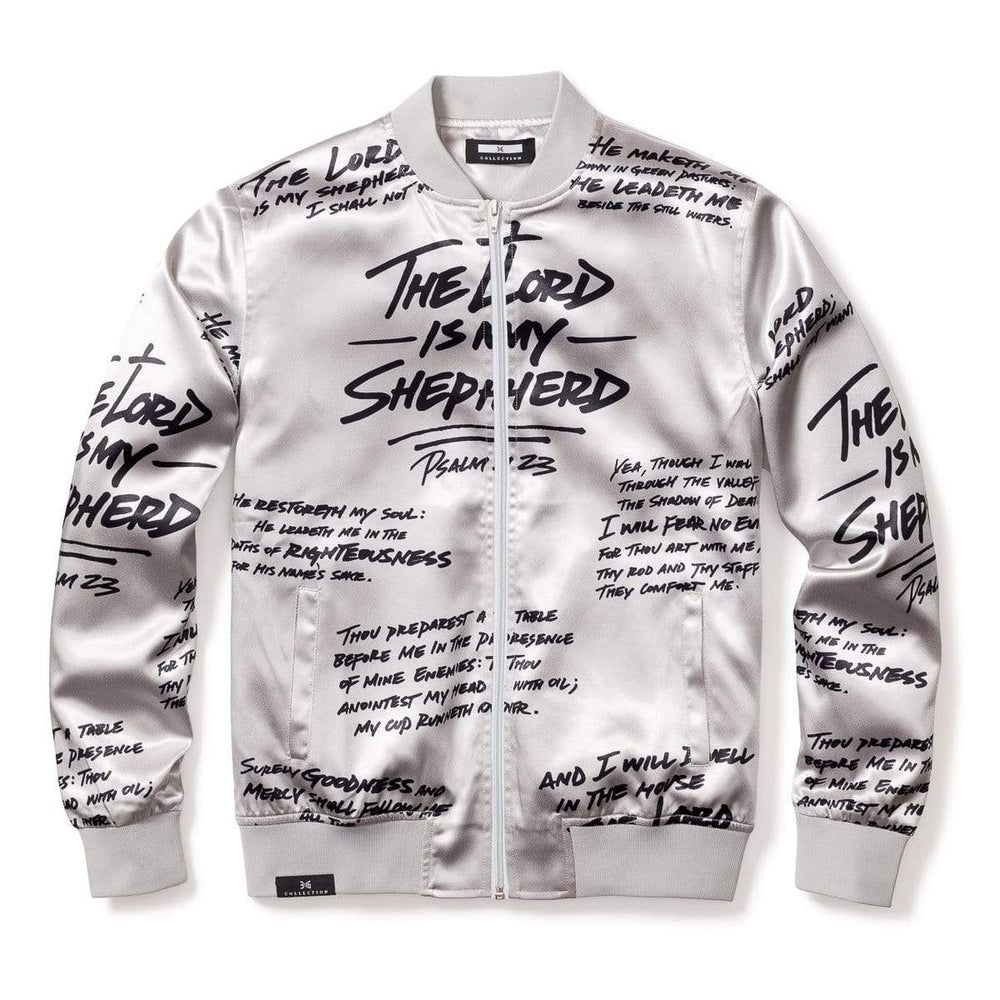 Psalm 23 Bomber Jacket - PLATINUM