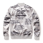 3:16 Collection Apparel - Women's Apparel - Outerwear Psalm 23 Bomber Jacket - Platinum