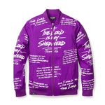 Psalm 23 Purple Bomber Jacket