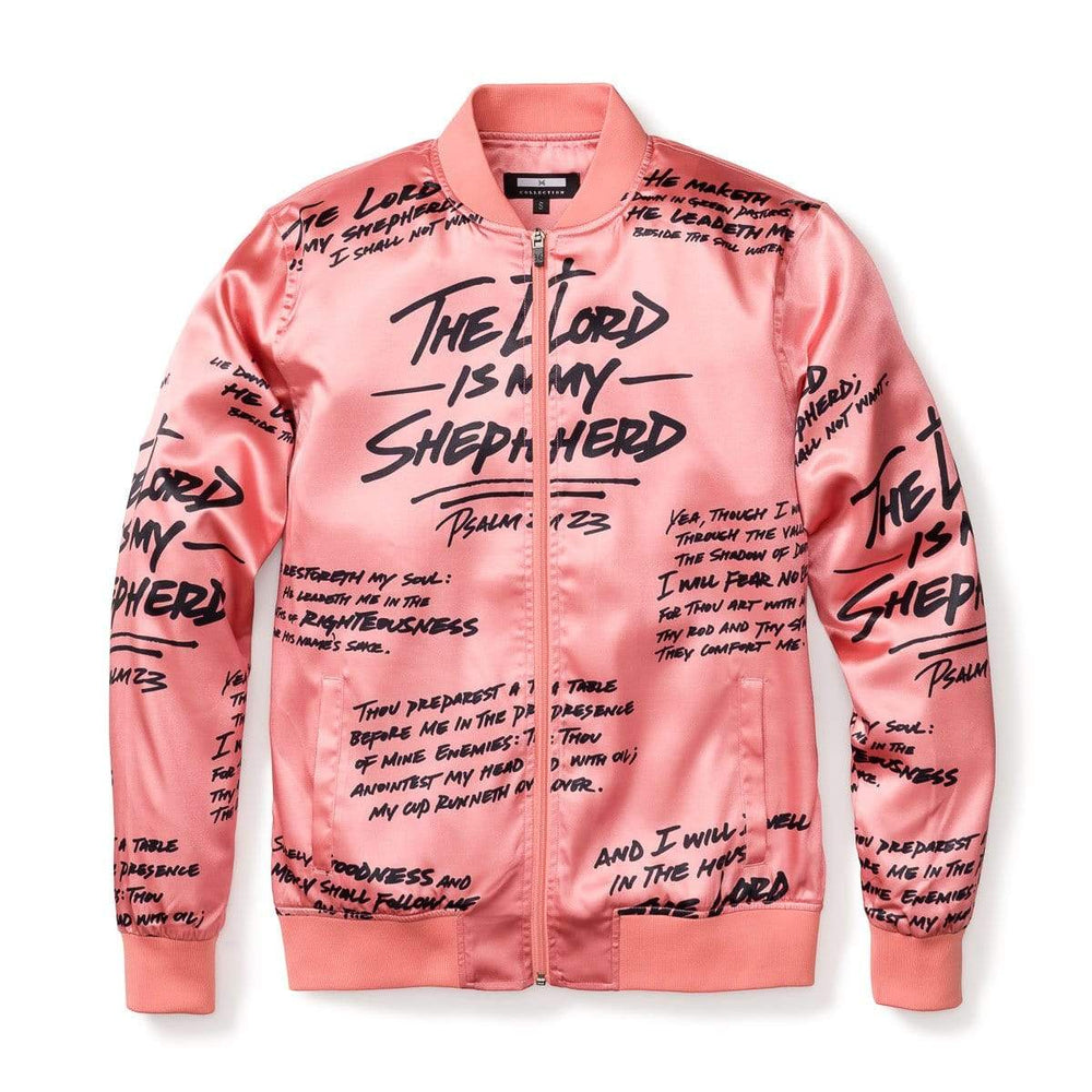 Psalm 23 Rose Gold Bomber Jacket , Black