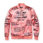 3:16 Collection Apparel - Women's Apparel Psalm 23 Rose Gold Bomber Jacket , Black