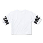3:16 Collection Apparel - Women's Apparel - Tops - Athleisure 3:16 Cutout Crop Top, White
