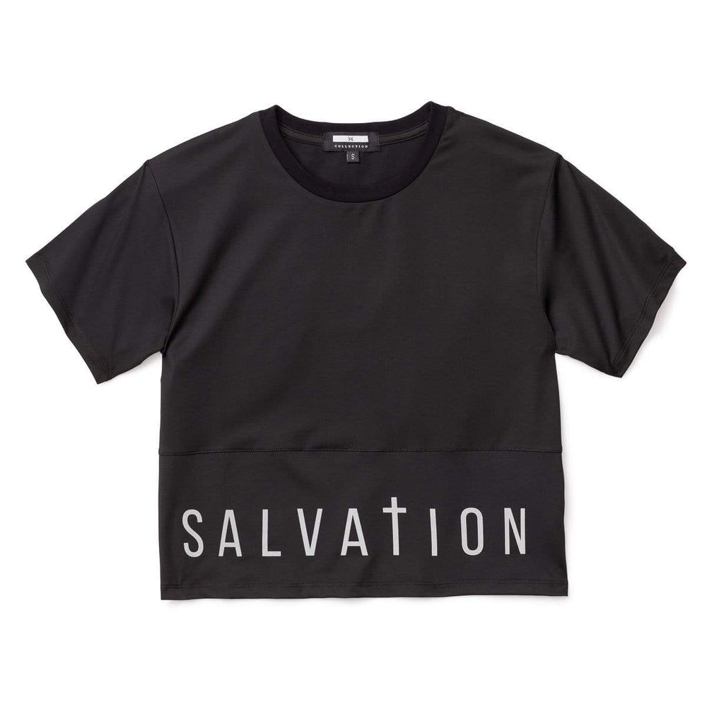 Salvation Crop Top, Black