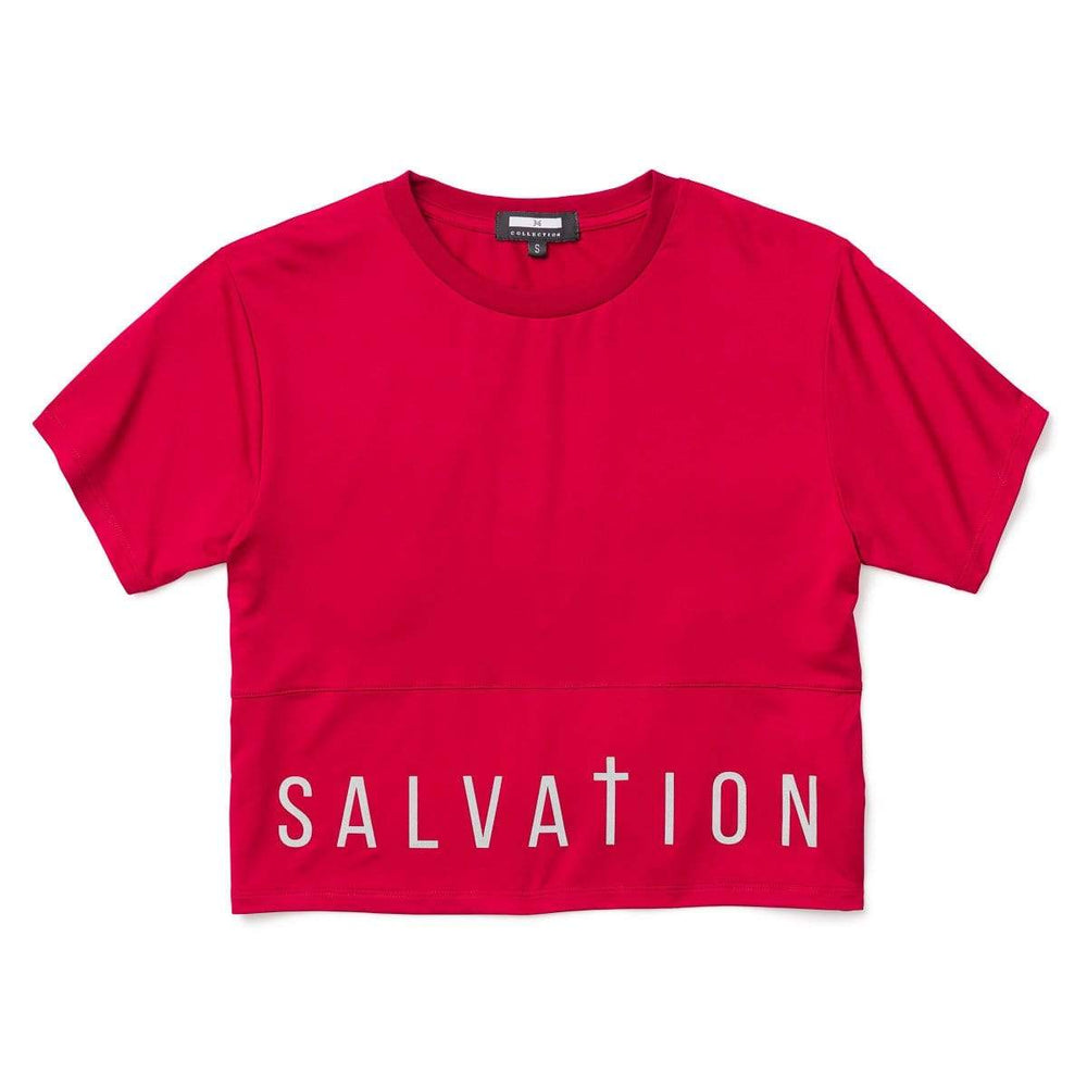 3:16 Collection Apparel - Women's Apparel - Tops - Athleisure Salvation Crop Top, Maroon